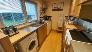 The kitchen in Cuilidh, Kintyre Holiday Home self-catering Scotland