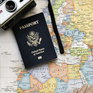 photo of travel paraphernalia