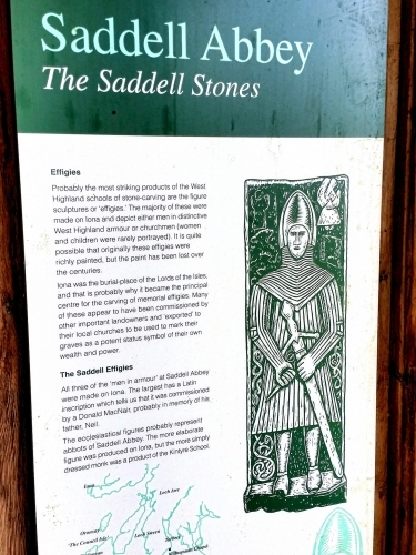 Ruins of Saddell Abbey - Information on the Saddell Stones