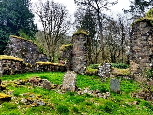 Ruins of Saddell Abbey - Ruins of the Choir and the North Transept
