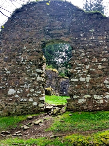 Ruins of Saddell Abbey - Interior of the Choir