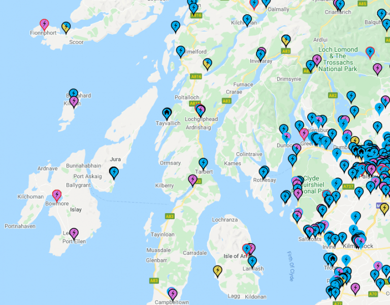 EV Charge Point Map example