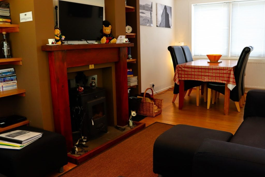 Lounge with dining area at Cuilidh, Kintyre Holiday Home self-catering Scotland