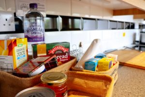 Fully equipped galley style kitchen at Cuilidh, Kintyre Holiday Home self-catering Scotland
