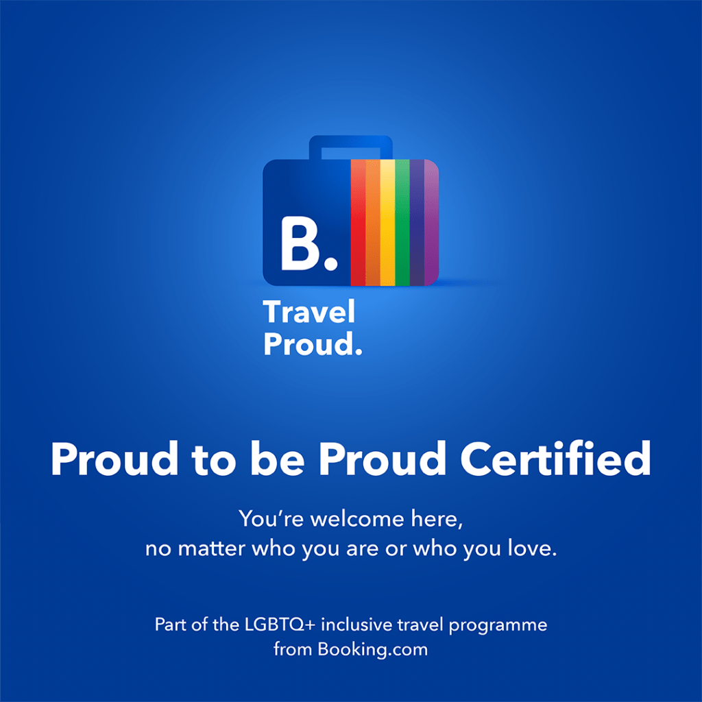 Proud Certified from Booking.com