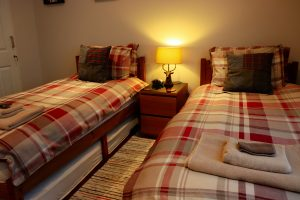 First Floor Twin bedroom Cuilidh, Kintyre Holiday Home self-catering Scotland