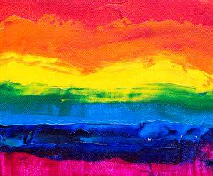 Pride flag in art form